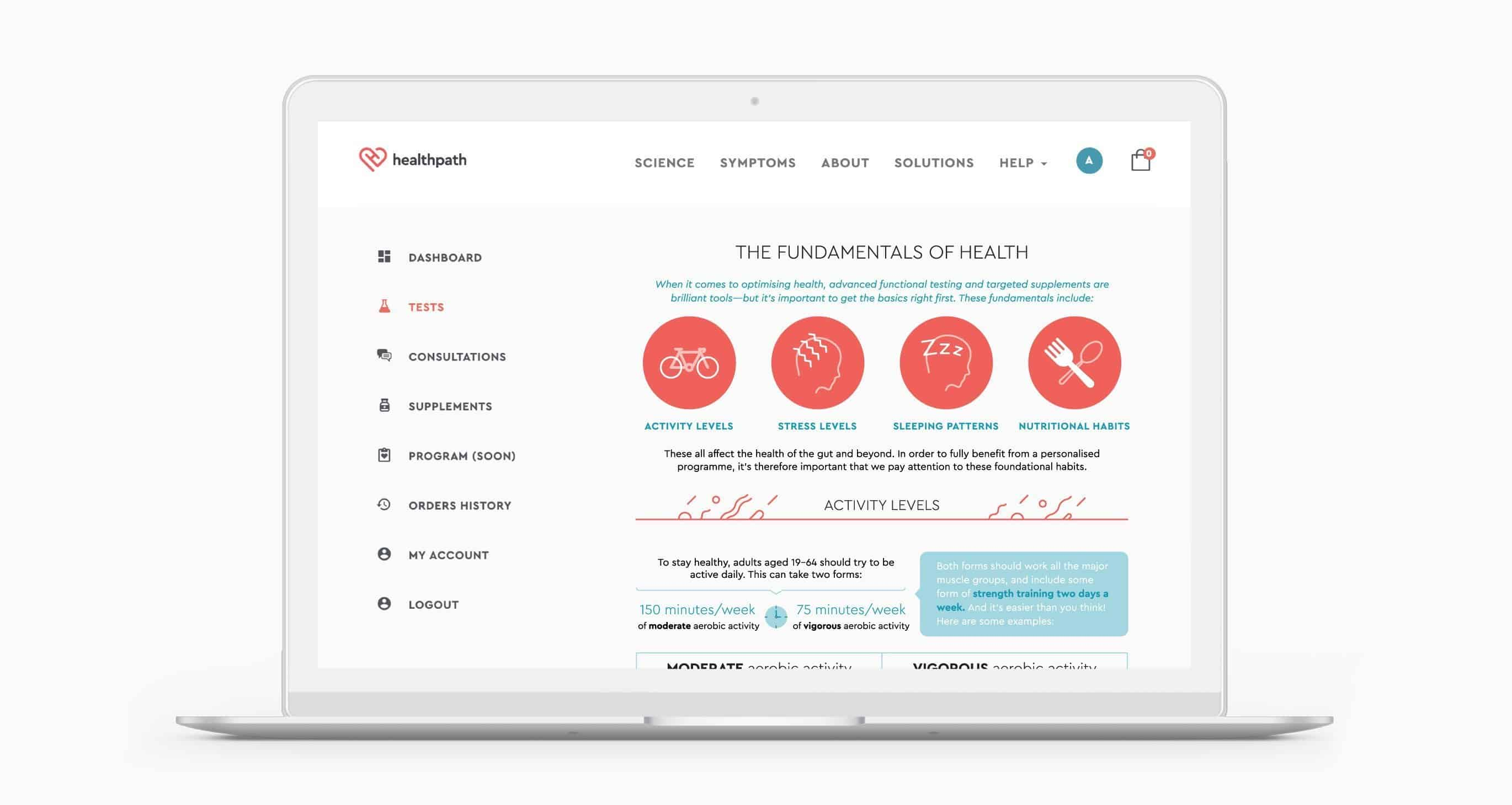 online fundamentals of health report